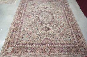 Tabriz Design Chinese Handmade Silk Room Size Rug,