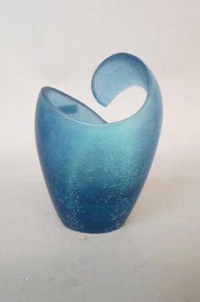 Daum Art Glass Vase, Pate De Verre Style,