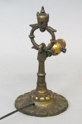 Oscar Bach Style Bronzed Lamp,