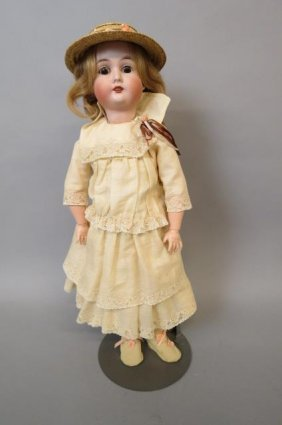 Gebruder Bisque Head Doll,