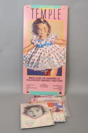Shirley Temple Poster And Sheet Music,