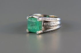 Emerald And Diamond Ring,