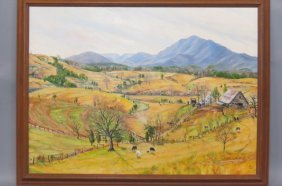 Dale Mcentire Oil Painting Of Mills Springs, Nc.,