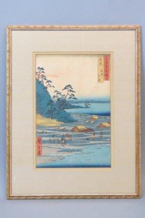 "Hiroshige Japanese Woodblock ""iwami"","