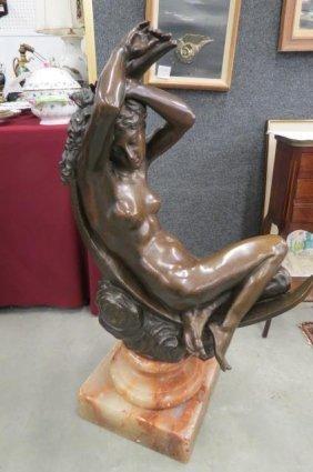Bronze Statue Of Nude Woman,