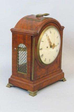 "Moore ""royal Exchange"" English Bracket Clock, Fusee,"