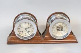 Chelsea Ships Clock And Barometer Set,