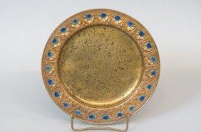 Tiffany Enameled Bronze Tray,