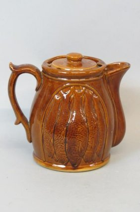 Rockingham Or Bennington Pottery Pitcher,