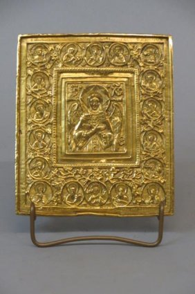 Russian Brass Icon,
