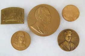 Collection Of 5 Bronze Medals,