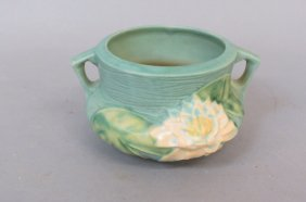 "Roseville ""water Lily"" Pottery Vase,"
