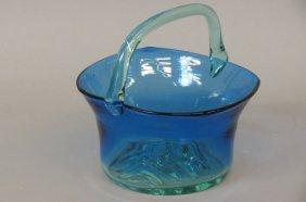 Studio Art Glass Basket,