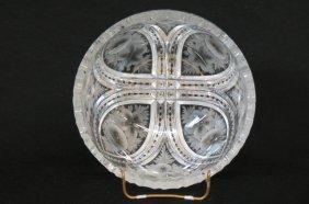 Pitkin & Brooks Cut Glass Bowl,