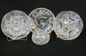 4 Pcs. Cut Glass,