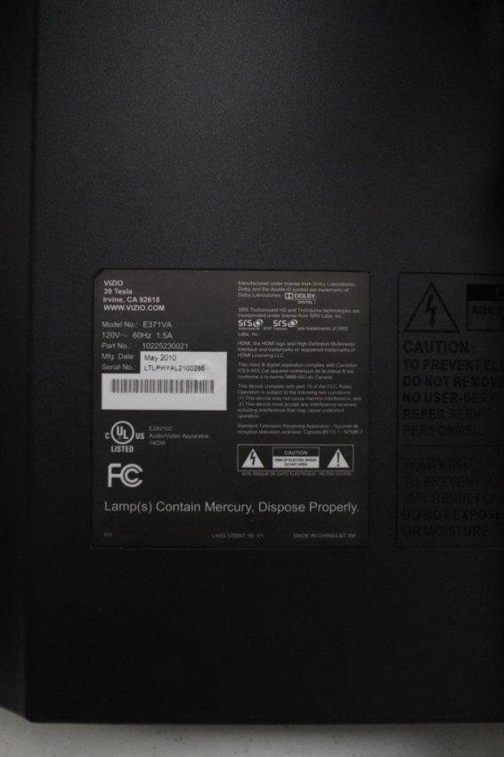 vizio 37 inch tv manual