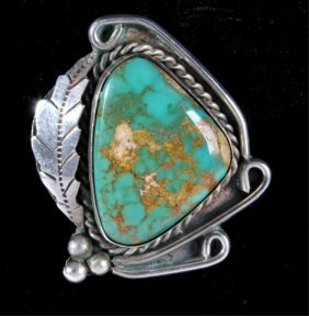 Navajo Silver & Turquoise Nugget Ring