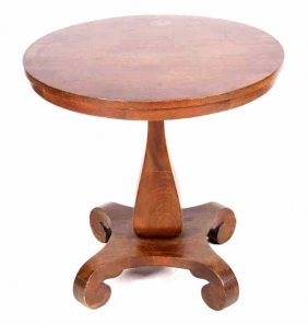 Walnut Parlor Occasional Table Circa 1900