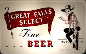 Great Falls Select Beer Lighted Advertising Sign