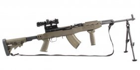 Tactical Chinese Sks Type 56 Rifle Scope & Bipod