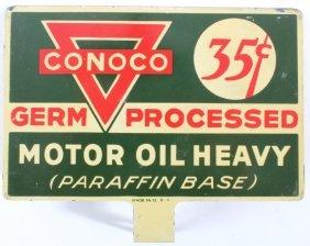 Conoco Germ Processed Motor Oil Rack Sign