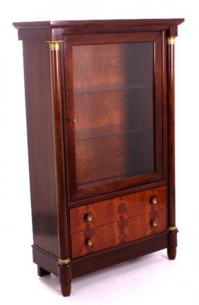 Antique Belgian Empire Curio Cabinet