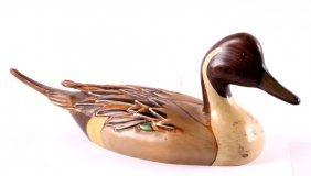 Big Sky Carvers Wooden Pintail Duck Decoy