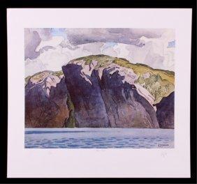 """A.j. Casson (1898-1992) """"bon Echo"""" Print"""