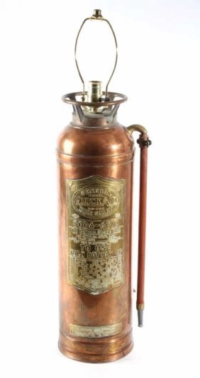 Antique General Quick Aid Copper Fire Extinguisher
