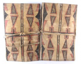 Blackfoot Parfleche Saddle Bag Set 19th Century