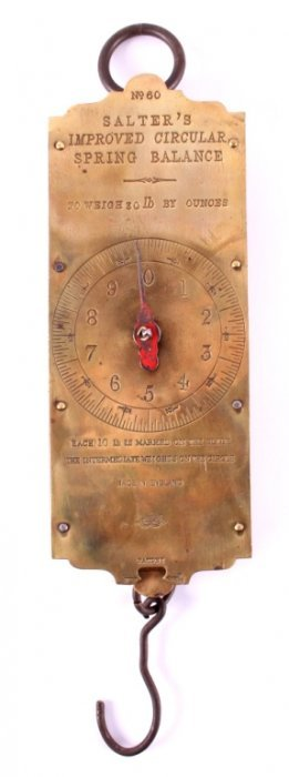 Antique Salter's Improved Circular Spring Balance