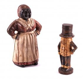 Cast Iron Peanut And Mammy Coin Banks