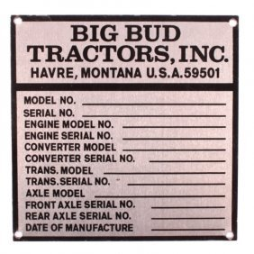 Big Bud Tractors Havre Montana Sign