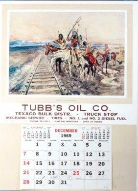 Charles Russell Texaco Calendar Harlem, Mt 1969