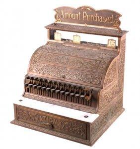 National Brass Cash Register Model 57 C. 1900