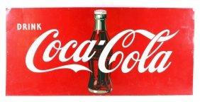 Original Early Vintage Coca Cola Tin Sign