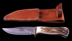 George Weinand Custom Elk Horn Knife Lolo Mt