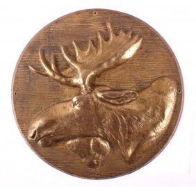 Fraternal Loyal Order Of Moose Lodge Brass Plaque