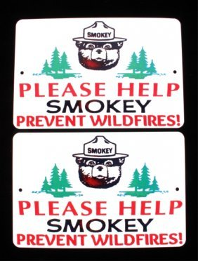 U.s. Forest Service Smokey Bear Signs