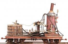 "Clishay Live Steam Coal Locomotive 7.5"" Railroad"