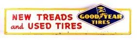 Goodyear Tires Embossed Steel Sign