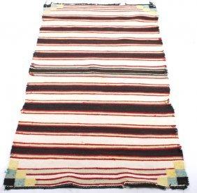 Navajo Chief's Saddle Blanket Rug Circa 1900-1910
