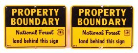 National Forest Boundary Line Signs