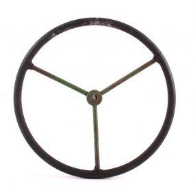Antique John Deere Tractor Steering Wheel