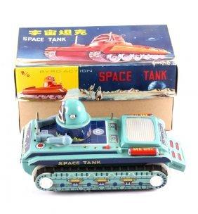 B/o Japanese Tin Litho Space Tank
