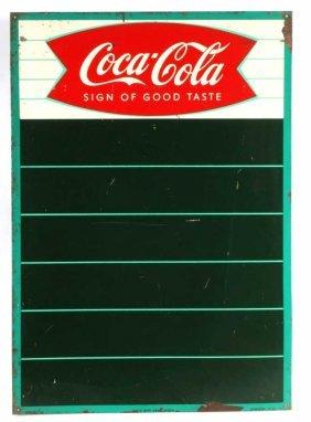 Coca Cola Menu Sign Tin Circa 1959 Fishtail