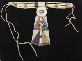 Sioux Beaded Neck Tie & Collar 19th-20th C.