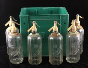 Ben Shaw's Seltzer Bottle Collection W/ Carrier
