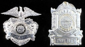 Kansas City Police Hat Badge Collection Of Two