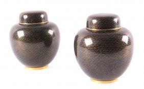 Chinese Cloisonne Enamel Ginger Jars